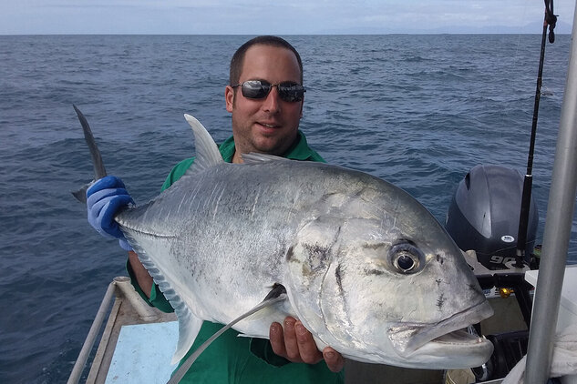 Giant trevally caught off-shore from the Daintree River
