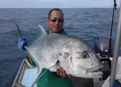 Big Giant trevally caught near the Daintree River