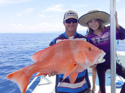 Red emperor fish caught near the Daintree River