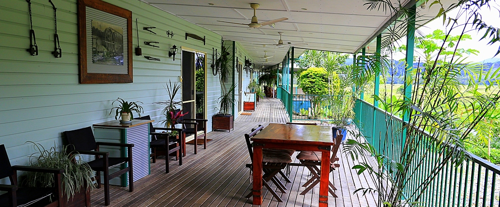 Balcony with views of the Daintree River